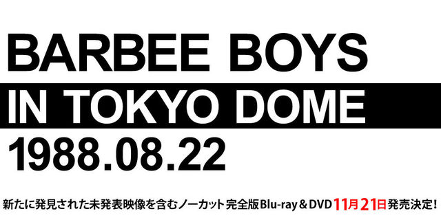Barbeeboys IN TOKYO DOME 1988.08.22