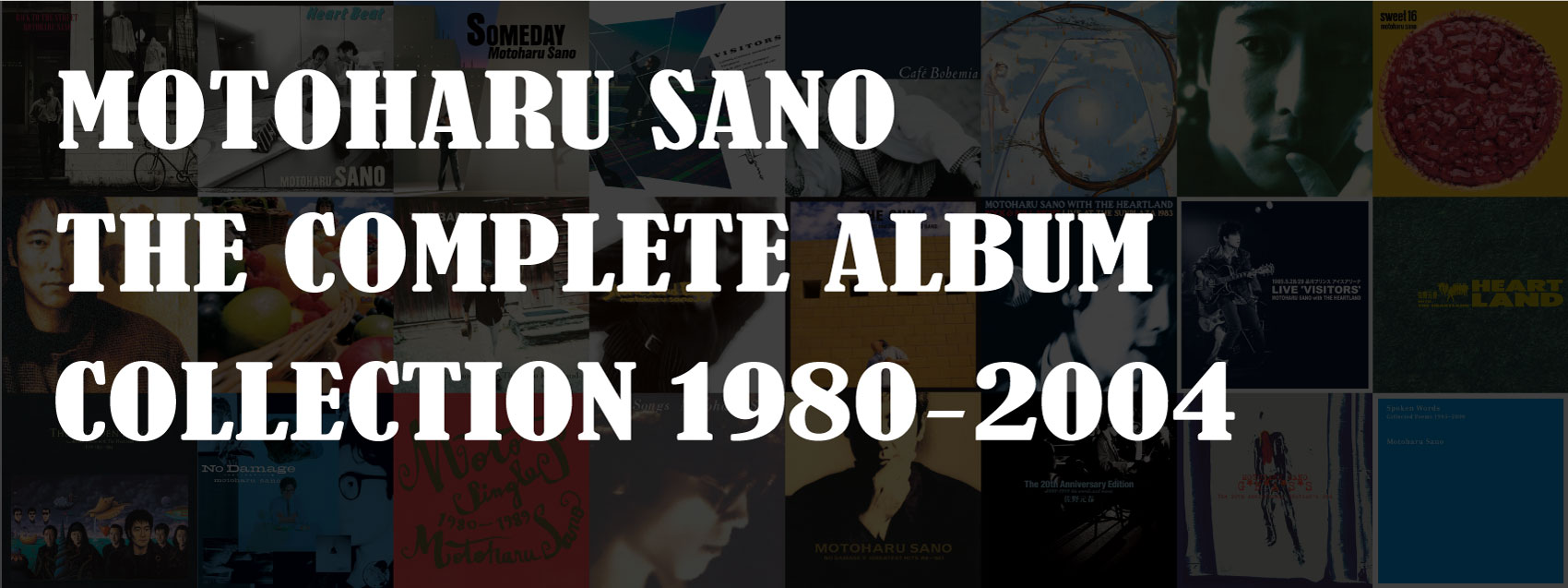 MOTOHARU THE SANO COMPLETE ALBUM COLLECTION 1980-2004